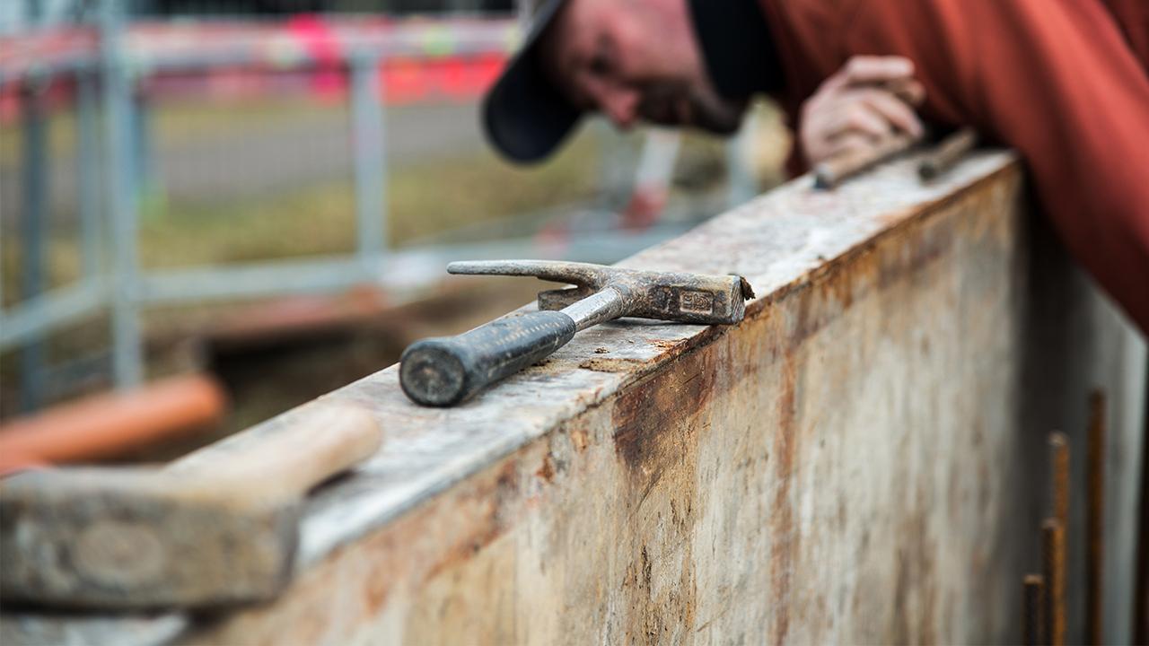 Egner Bauunternehmen Detail Rohbau Mauer