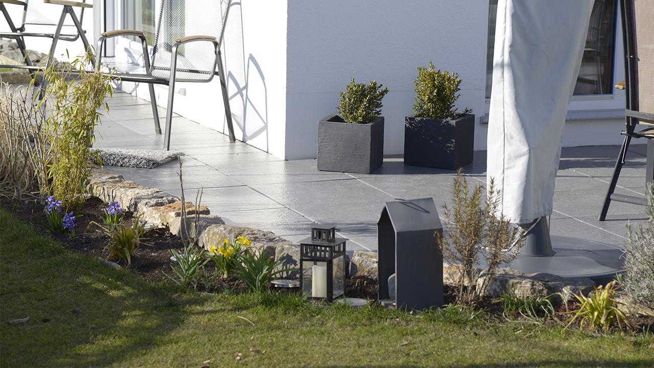 Egner Bauunternehmen Aussenanlagen Terrasse